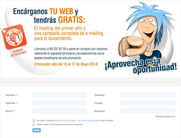 Inscríbete a esta promoción ya. Clica aquí. Gratis hosting web y campaña de E-mail marketing