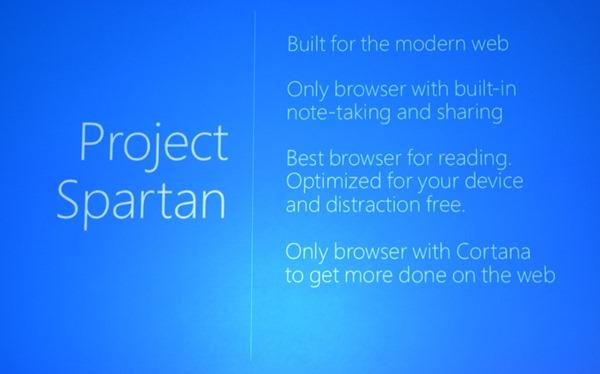 """Novedades del nuevo navegador """"Project Spartan"""" de Microsoft"""